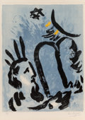Prints & Multiples, Marc Chagall (1887-1985). Moses, 1960. Lithograph in colors on wove paper. 26-1/2 x 19-3/4 inches (67.3 x 50.2 cm) (imag...