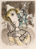 Prints & Multiples, Marc Chagall (1887-1985). Le cirque au clown jaune, 1967. Lithograph in colors on Arches paper. 26-3/8 x 20-1/2 inches (...