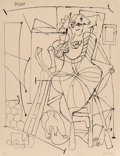 Prints & Multiples, Pablo Picasso (1881-1973). L'artiste et l'enfant, 1949. Lithograph on Arches wove paper. 25-1/2 x 19-3/4 inches (64.8 x ...