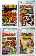 Silver Age (1956-1969):Superhero, The Avengers #10, 11, and 13 CGC-Graded Group (Marvel, 1964-65)....(Total: 4 Comic Books)