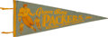 Football Collectibles:Others, 1960 Green Bay Packers National League Champions Pennant. ...