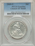 Seated Half Dollars, 1848-O 50C -- Cleaned -- PCGS Genuine. AU Details. NGC Census: (7/59). PCGS Population: (24/76). CDN: $400 Whsle. Bid for p...