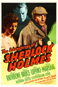 "The Adventures of Sherlock Holmes (20th Century Fox, 1939). One Sheet (27"" X 41"")"