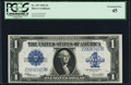 Large Size:Silver Certificates, Fr. 237 $1 1923 Silver Certificate PCGS Extremely Fine 45.. ...