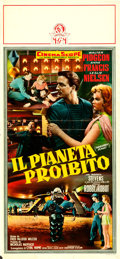 "Movie Posters:Science Fiction, Forbidden Planet (MGM, 1956). Italian Locandina (12.75"" X 27.5"")....."