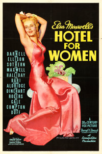 "Hotel for Women (20th Century Fox, 1939). One Sheet (27"" X 41"") McClelland Barclay Artwork"