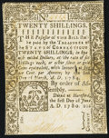 Colonial Notes, Connecticut June 1, 1780 20s Extremely Fine-About New, CC.. ...