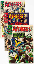 Silver Age (1956-1969):Superhero, The Avengers Group of 8 (Marvel, 1966-68) Condition: Average VF....(Total: 8 Comic Books)