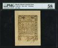Colonial Notes:Rhode Island, Rhode Island May 1786 3s PMG Choice About Unc 58.. ...