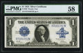 Large Size:Silver Certificates, Fr. 239 $1 1923 Silver Certificate PMG Choice About Unc 58.. ...