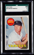 Baseball Cards:Singles (1960-1969), 1969 Topps Mickey Mantle (Yellow Letters) #500 SGC 60 EX 5....