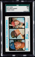 Baseball Cards:Singles (1970-Now), 1973 Topps Mike Schmidt - Rookie 3rd Basemen #615 SGC 84 NM 7....