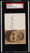 Autographs:Index Cards, Chuck Klein Signed Cut Signature SGC Authentic. ...