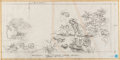 Original Comic Art:Miscellaneous, McDonaldland Mural Design Drawings Original Art by Wes Cook Groupof 4 (McDonald's/Setmakers, c. 1970s).... (Total: 4 Original Art)