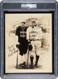 Baseball Collectibles:Photos, 1927-28 Lou Gehrig Signed Barnstorming Photograph.. ...
