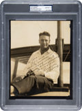 Baseball Collectibles:Others, 1930's Lou Gehrig Signed Photograph, PSA/DNA Gem Mint 10.. ...
