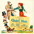 "Movie Posters:Drama, The Quiet Man (Republic, 1952). Six Sheet (80"" X 80"").. ..."