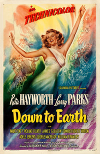 """Down to Earth (Columbia, 1947). One Sheet (27"""" X 41"""") Style A"""
