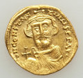 Ancients:Byzantine, Ancients: Constans II Pogonatus (AD 641-668). AV solidus (21mm,4.27 gm, 6h). MS, clipped, scratch....