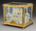 Decorative Arts, French:Other , A Glazed Gilt Bronze Cave à Liqueur, France, late 19th century .11-1/4 x 13 x 10-1/4 inches (28.6 x 33.0 x 26.0 cm). PROP...