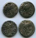 Ancients:Ancient Lots  , Ancients: ANCIENT LOTS. Greek. Seleucid Kingdom. Philip IPhiladelphus (ca. 95-75 BC). Lot of four (4) AR tetradrachms.Fine. ... (Total: 4 coins)