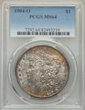 Morgan Dollars: , 1904-O $1 MS64 PCGS. PCGS Population: (54836/14000). NGC Census: (68265/20195). MS64. Mintage 3,720,000. ...