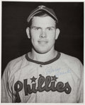 Autographs:Photos, 1948-49 Robin Roberts Philadelphia Phillies Original Photograph,PSA/DNA Type I....