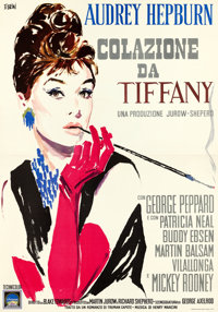 "Breakfast at Tiffany's (Paramount, 1961). Italian 4 - Fogli (55"" X 78.5"") Ercole Brini Artwork"