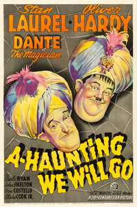 "A-Haunting We Will Go (20th Century Fox, 1942). One Sheet (27"" X 41"")"