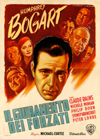 "Passage to Marseille (Warner Brothers, Late 1940s). First Post-War Release Italian 4 - Fogli (55"" X 77.5"") Lui..."
