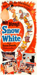 "Movie Posters:Animation, Snow White and the Seven Dwarfs (Buena Vista, R-1958). Three Sheet (41.5"" X 83.75"").. ..."