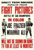 "Movie Posters:Sports, Joe Frazier vs. Muhammad Ali (Cinerama, 1971). One Sheet (28"" X 41"").. ..."
