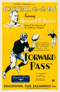 "Football for the Fan (Educational Film Exchange, 1932). One Sheet (27"" X 41"") ""Forward Pass."""