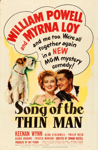 """Song of the Thin Man (MGM, 1947). One Sheet (27"""" X 41"""")"""
