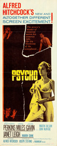 "Movie Posters:Hitchcock, Psycho (Paramount, 1960). Insert (14"" X 36""). ..."