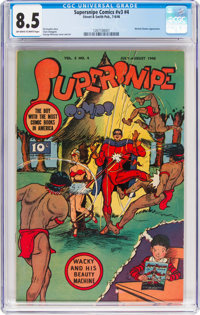 Supersnipe Comics V3#4 (Street & Smith, 1946) CGC VF+ 8.5 Off-white to white pages