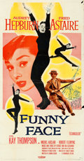 "Movie Posters:Romance, Funny Face (Paramount, 1957). Three Sheet (41"" X 78.5"").. ..."