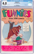 Platinum Age (1897-1937):Miscellaneous, The Funnies #2 (Dell, 1936) CGC VG 4.0 Off-white pages....