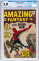 Amazing Fantasy #15 (Marvel, 1962) CGC GD/VG 3.0 Off-white pages