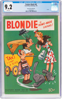 Feature Books #40 Blondie - Mile High Pedigree (David McKay Publications, 1944) CGC NM- 9.2 White pages