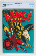 Golden Age (1938-1955):War, Eagle Comics #1 (Eagle, 1945) CBCS FN/VF 7.0 Off-white to whitepages....