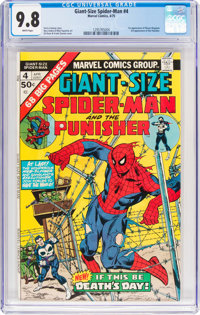 Giant-Size Spider-Man #4 (Marvel, 1975) CGC NM/MT 9.8 White pages