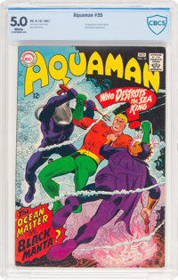 Aquaman #35 (DC, 1967) CBCS VG/FN 5.0 White pages
