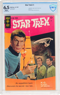 Star Trek #1 (Gold Key, 1967) CBCS FN+ 6.5 White pages