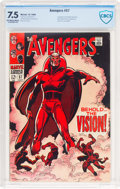 Silver Age (1956-1969):Superhero, The Avengers #57 (Marvel, 1968) CBCS VF- 7.5 Off-white to whitepages....