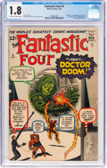 Silver Age (1956-1969):Superhero, Fantastic Four #5 (Marvel, 1962) CGC GD- 1.8 Off-white to whitepages....