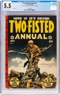 Golden Age (1938-1955):War, Two-Fisted Annual #2 (EC, 1953) CGC FN- 5.5 Off-white to whitepages....