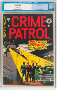 "Crime Patrol #8 Davis Crippen (""D"" Copy) Pedigree (EC, 1948) CGC VF/NM 9.0 Off-white pages"