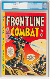 Frontline Combat #4 Gaines File Pedigree 9/10 (EC, 1952) CGC NM/MT 9.8 Off-white to white pages