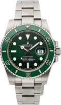 "Timepieces:Wristwatch, Rolex Submariner Green Bezel ""Hulk,"" Ref. 11661OV, With AllDocuments, Circa 2013. ..."